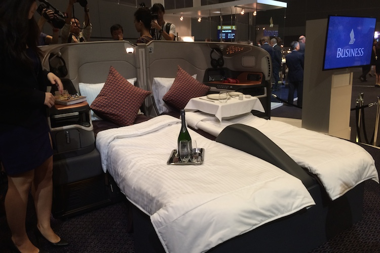 Singapore Airlines new A380 business class. (Jordan Chong)