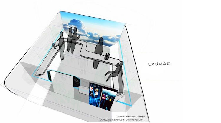 An Zodiac Aerospace drawing for a lounge zone. (Airbus)