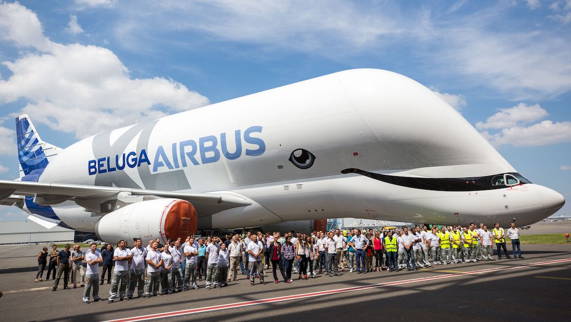 The Airbus BelugaXL whale-inspired livery was chosen by staff. (Airbus)