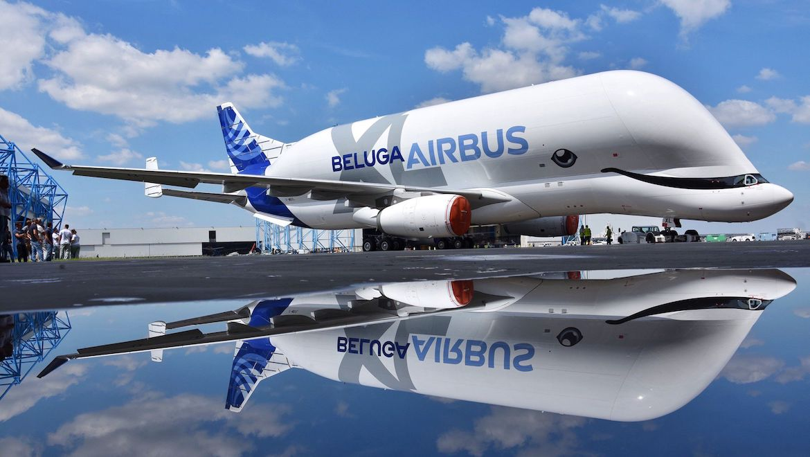 The Airbus BelugaXL features a whale-inspired livery. (Airbus)