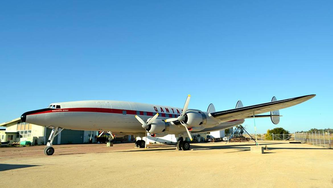 The Super Constellation at Longreach. (Qantas Founders Museum/Facebook)