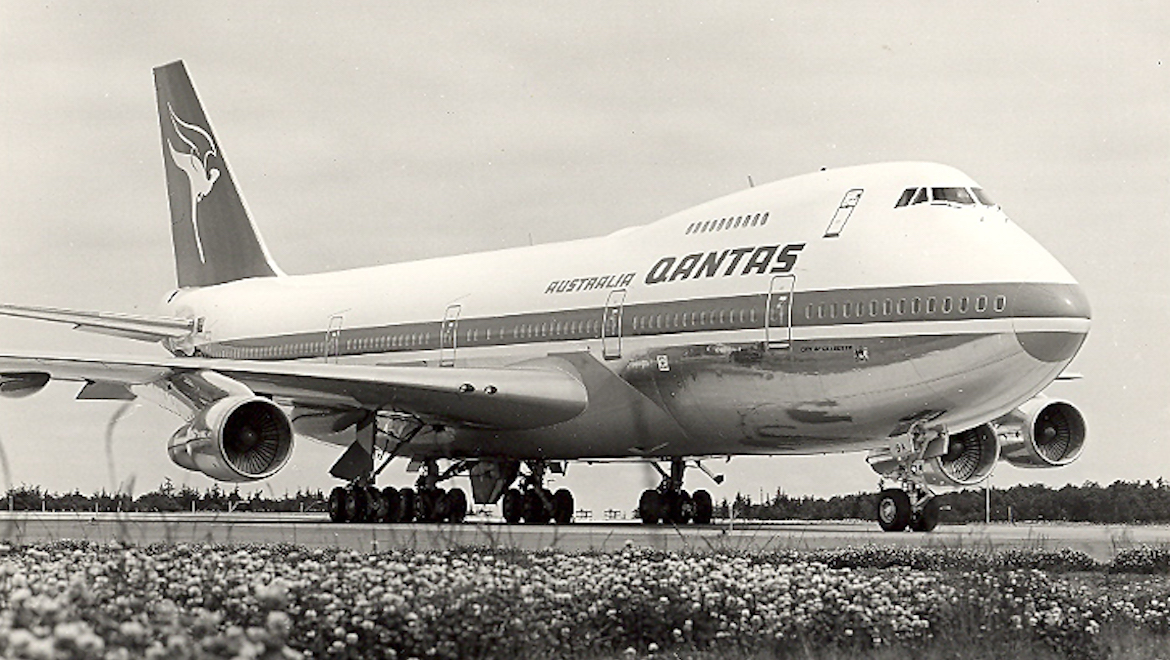 A file image of Qantas's first Boeing 747 VH-EBA. (Qantas)