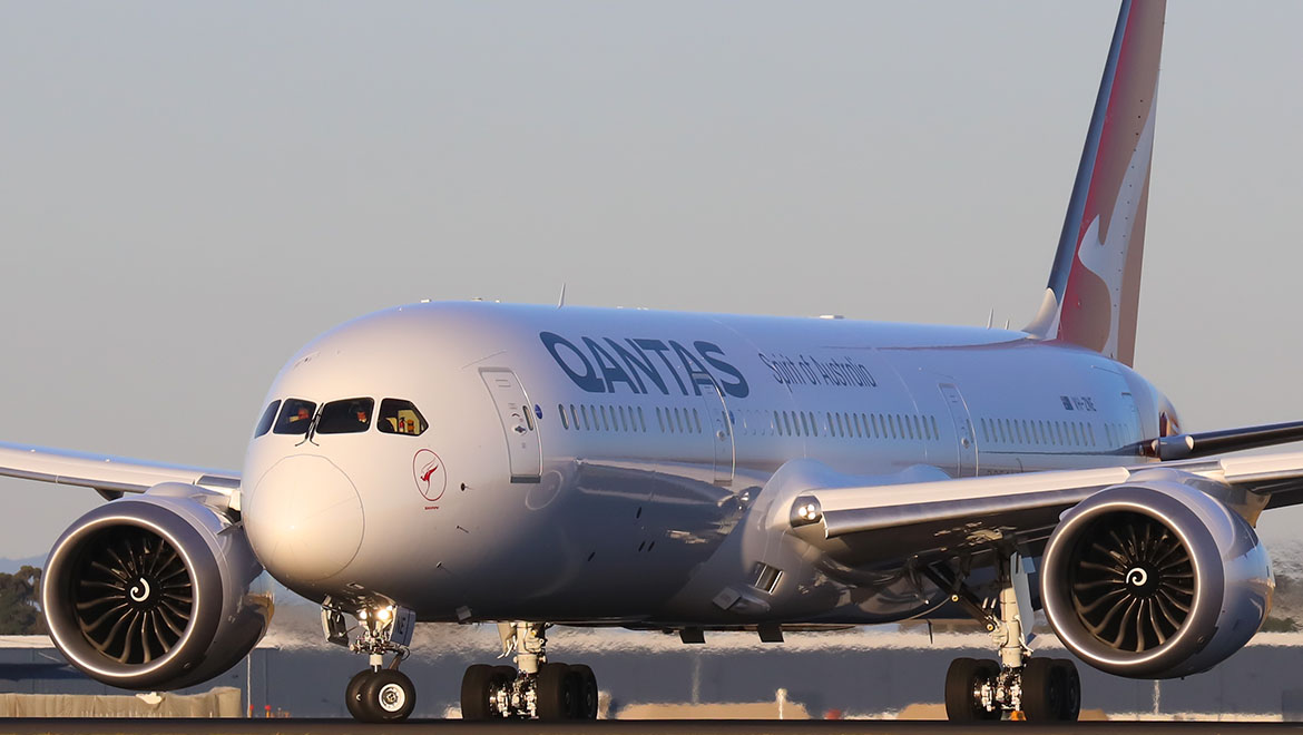 Qantas will soon fly the Boeing 787-9 between Australia and Hong Kong. (Victor Pody)