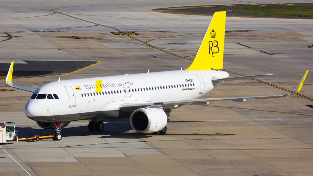 Royal Brunei Airlines Airbus A320neo V8-RBD at Melbourne Tullamarine on August 12 2018. (Victor Pody)