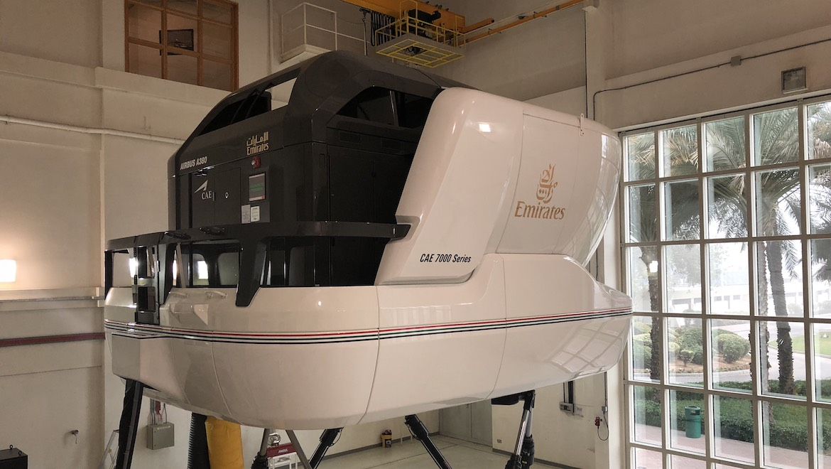 The collaboration with Emirates has seen data collections using an A380 full-flight simulator. (Emirates)