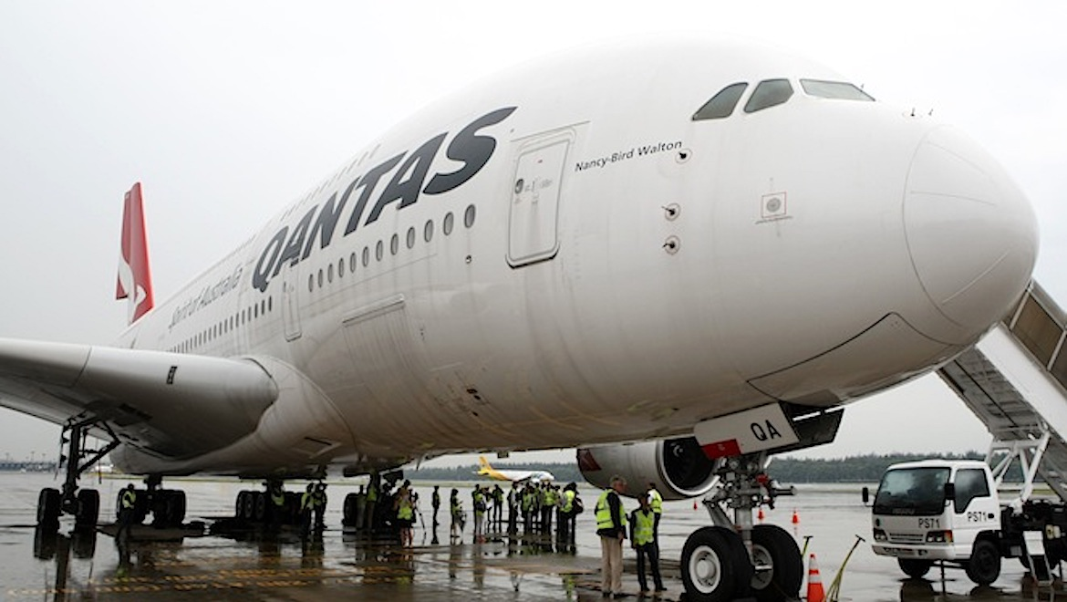 Media inspect the Nancy-Bird Walton in Singapore after its repairs in 2012. (Gerard Frawley)