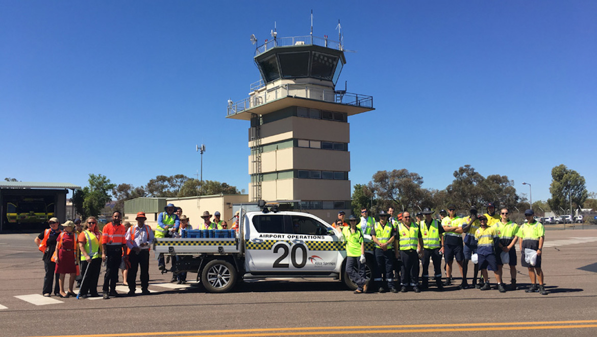 Alice Springs Airport participating in Airport Safety Week. (Australian Airports Association)