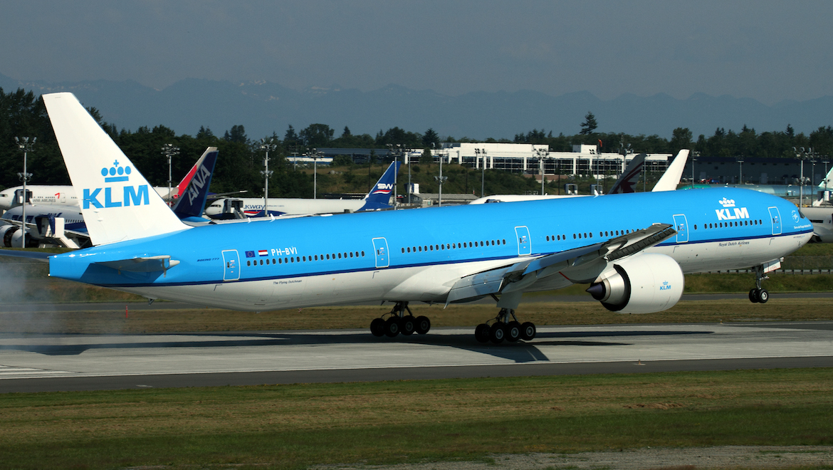 KLM Royal Dutch Airlines flies between Amsterdam and Singapore with Boeing the 777-300ER. (Rob Finlayson)