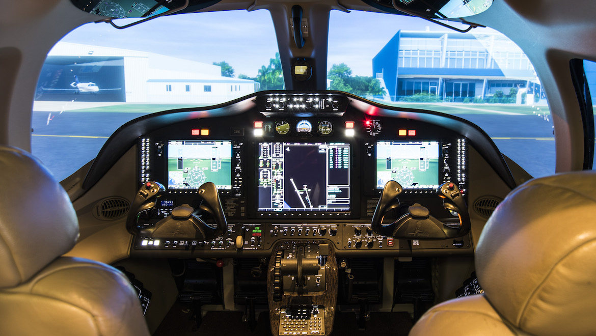 The Citation Mustang sim represents a unique capability in the region. (Flight Options)