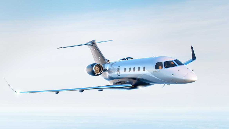 A supplied image of the Embraer Praetor 500. (Embraer)