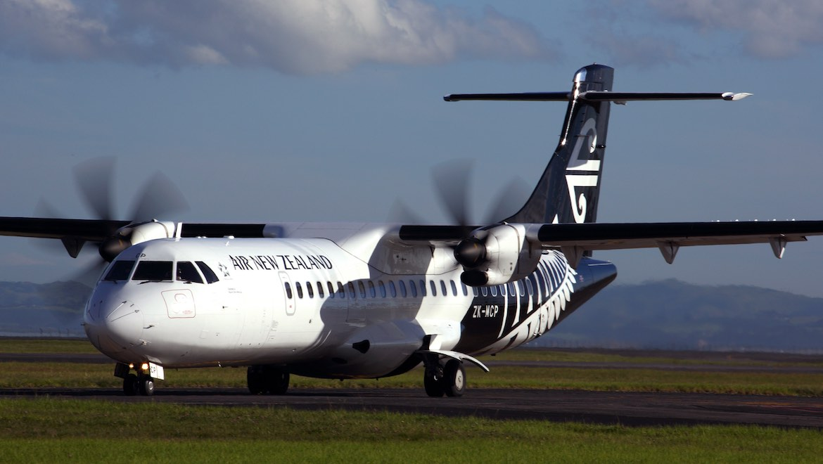 A file image of an ATR 72-600 in Air New Zealand livery. (Rob Finlayson)