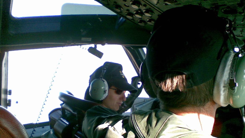 Then FLTLT Marija Jovanovich as aircraft captain on an RAAF AP-3C Orion. (Defence)