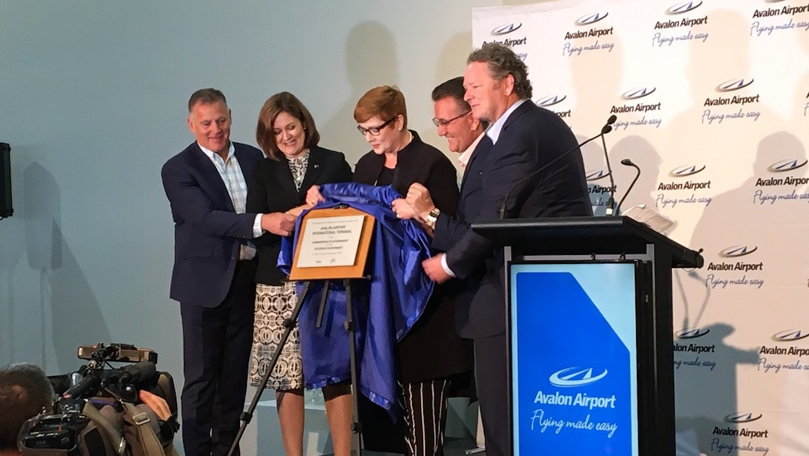 Federal Minister for Foreign Affairs Senator Marise Payne opens the Melbourne Avalon Airport international terminal. (Avalon Airport)