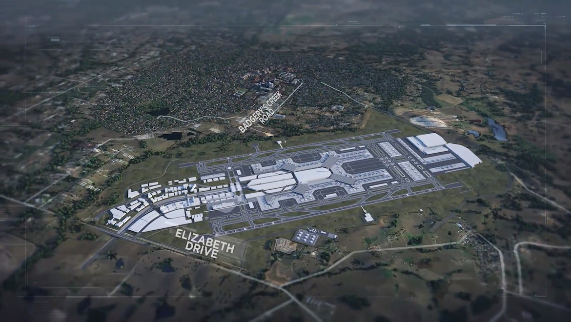 Early indiciative concepts of what Western Sydney Airport could look like in its mature phases. (WSA Co)