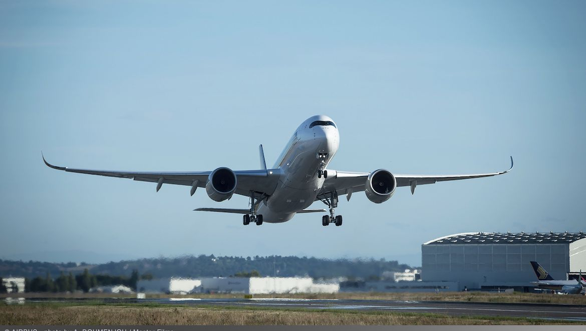 The Airbus A350-900ULR has maximum takeoff weight of 280 tonnes. (Airbus)