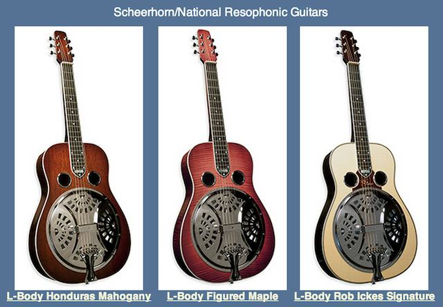 Rob Ickes Resohponic Guitars