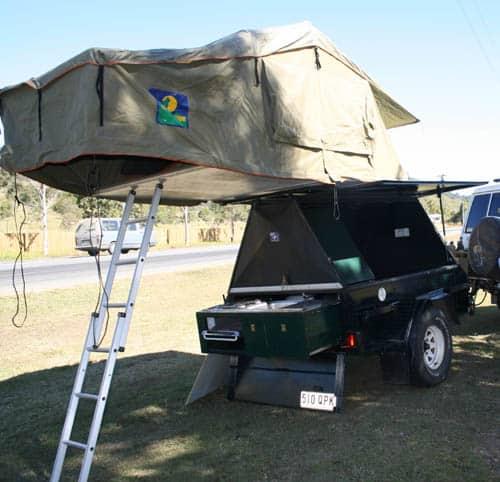 camper trailer rooftop tent