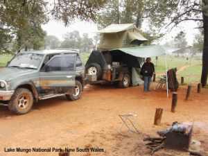 Camp at Lake Mungo, NSW