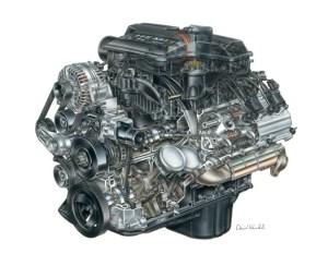 57L HEMI V8 engine (EZB: 200309)