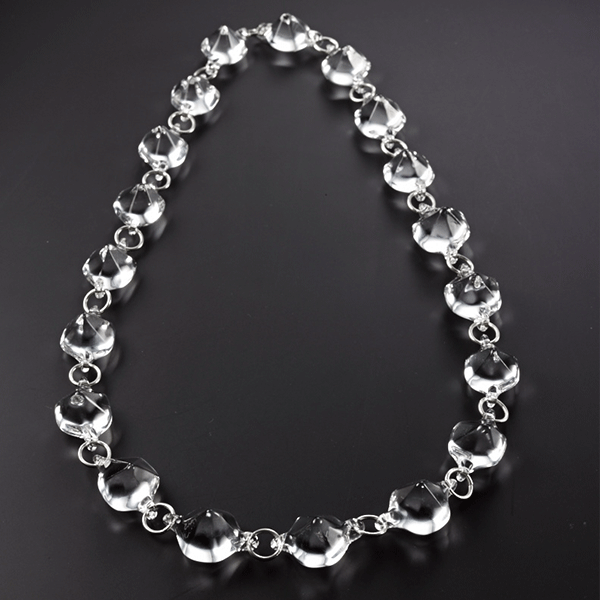 Diamonds necklace by Giselle Courtney. Flame formed glass and sterling silver fittings.