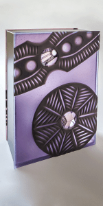 Diatom Box III by Zoe Woods (amethyst) Kiln formed glass, wheel cut, mirror, zinc.