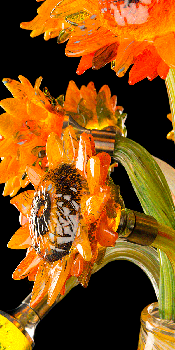 Sunflower light by Tim Shaw. Detail