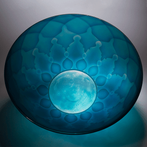 Celestial Minds by Kevin Gordon. Blown and carved glass.