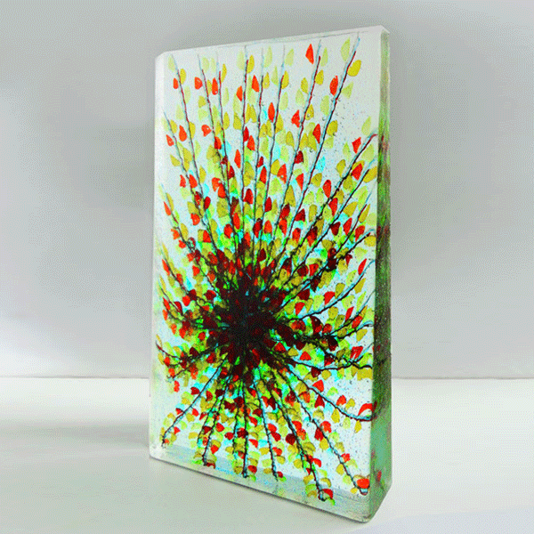 Palm Springs #4 by Emma Varga. Fused and Cast Glass H 42cm x W26cm x D 5cm