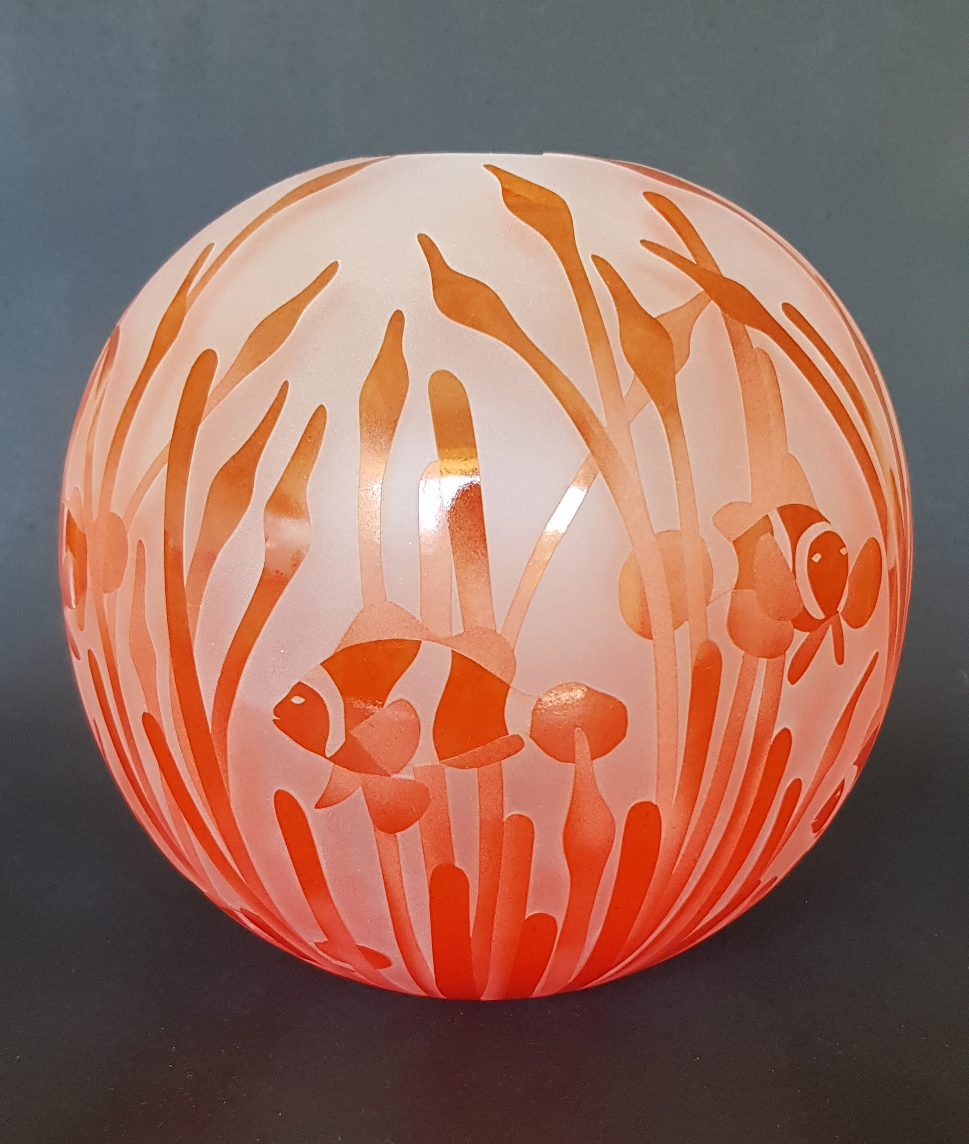 Clownfish sphere by Amanda Louden