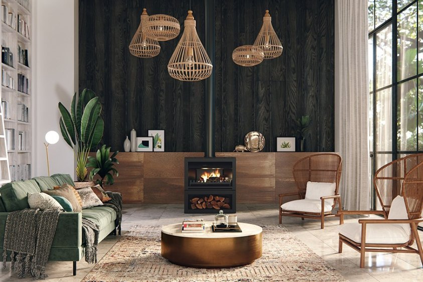 Nectre N900 wood fired heater wood fire fire place australian hydronics