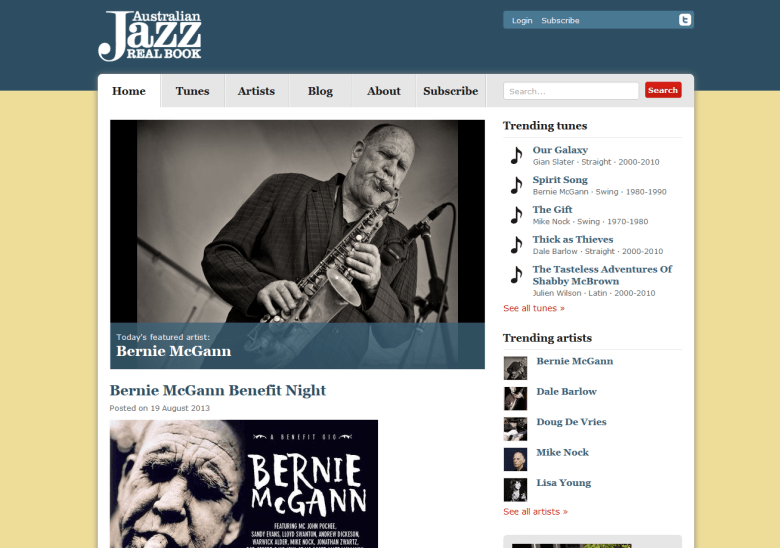 Australian Jazz Real Book website