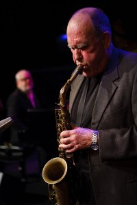 Bernie McGann playing his alto saxophone
