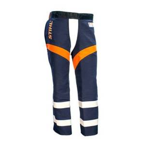 stihl chainsaw pants. stihl government \u0026 utility protective chaps \u2013 navy stihl chainsaw pants