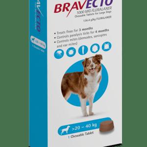 Bravecto Chew 20-40kg Angle