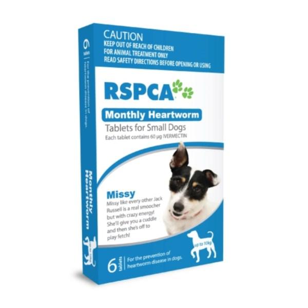 RSPCA Heartwormer Small Dog Pk