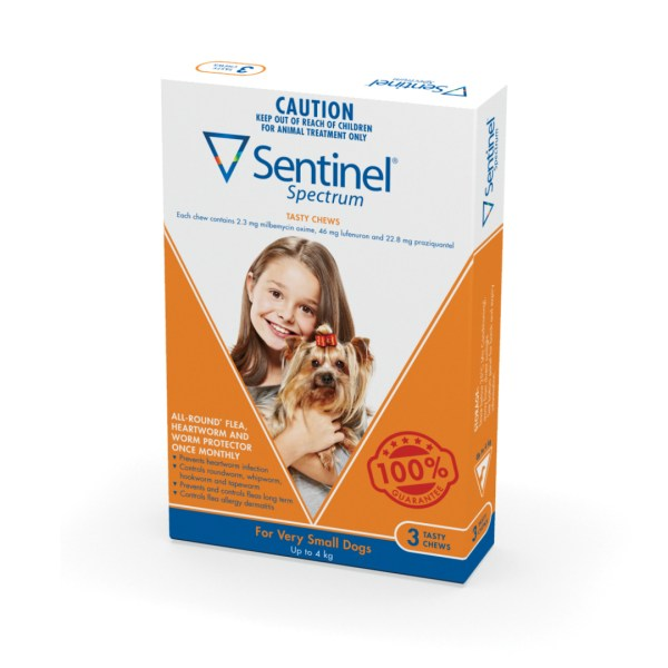 Sentinel Spect Very Small Dog 3 Pack