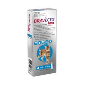 Bravecto Plus Spot-on Medium Cat