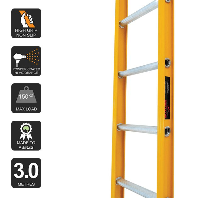 3.0m Butlin Straight Ladder