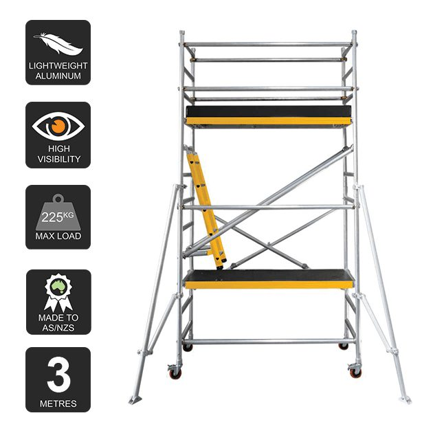 Aluminium Mobile Scaffold 3m