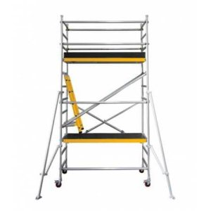 Mobile Scaffold with diagonal brace