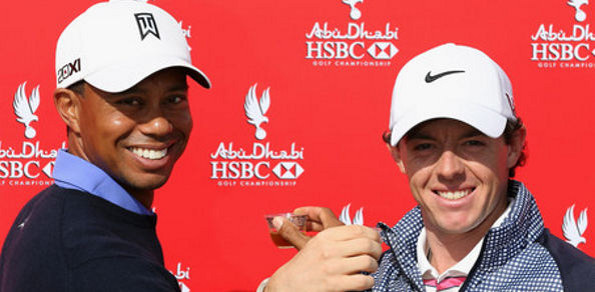 Tiger Woods Rory McIlroy Together Steady 595