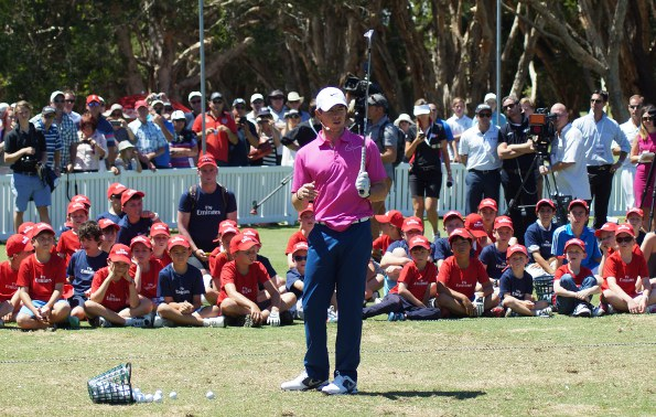 Former world #1 Rory McIlroy was king of the kids in Sydney, giving a clinic to budding golfers at Royal Sydney on Wednesday