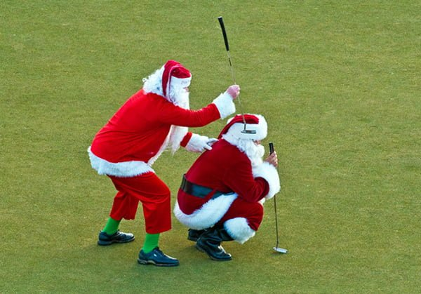 Exclusive! Santa's favourite Christmas golfing swing tip