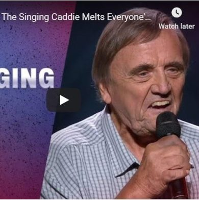 "The Singing Caddie ""melts hearts"" at The Voice Australia 2020"