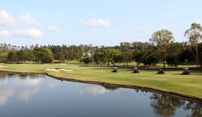 Course maintenance at Royal Pines