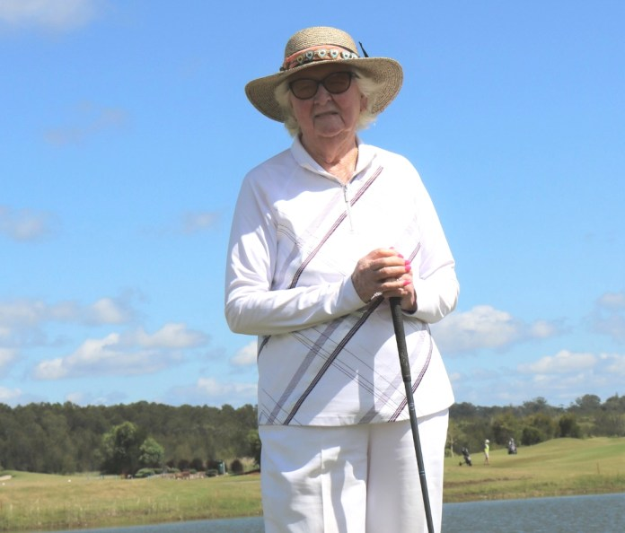 Mary Hadden celebrates her 100th birthday with her usual twice-weekly golf game