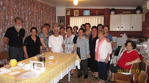 76- farewell with Italian prayer group at Ryde