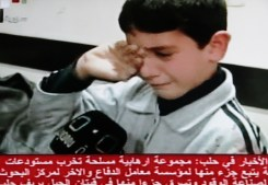 Distress of boy after car bomb