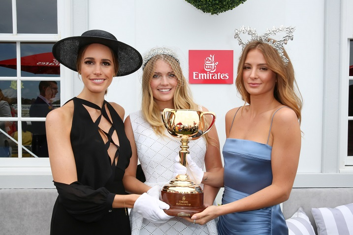 L to R: Louise Roe, Lady Kitty Spencer, Millie Mackintosh