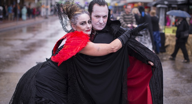 Getting into the festival spirit at Lithgow Halloween `15. Photo: Ben Pearse Photography